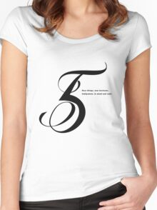 5 Numerology Women's Fitted Scoop T-Shirt