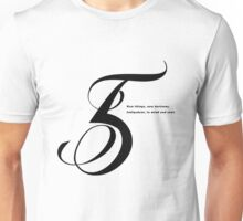 5 Numerology Unisex T-Shirt