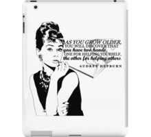 Audrey Hepburn | Helping Others iPad Case/Skin