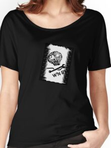 Wrench'N Ride'N Black is the new black skull t-shirt Women's Relaxed Fit T-Shirt