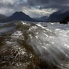 WAVES.  Crummock water,Cumbria,UK by Peter Skillen