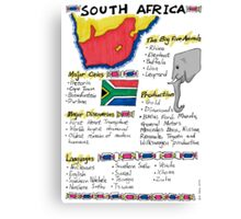 South Africa - A Poster Canvas Print