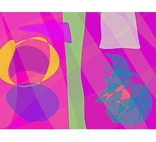 Pink and Purple Rain Photographic Print