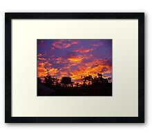 Fiery Kimberley Sunset Framed Print