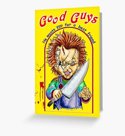 chucky- childs play Greeting Card