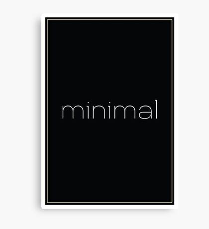 Minimal - Simple Modern Typography  Canvas Print