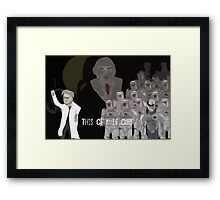 The Corporation nologo Framed Print