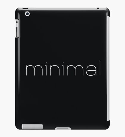 Minimal - Simple Modern Typography  iPad Case/Skin