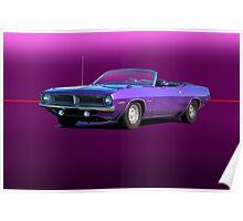 1970 Plymouth Barracuda Convertible Poster