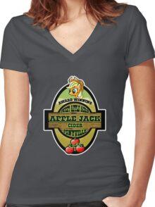 Apple Jack Cider Women's Fitted V-Neck T-Shirt