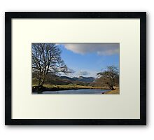 Langdale Pikes and the River Brathay Framed Print