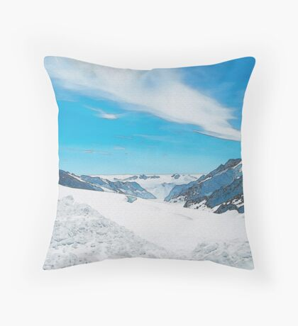Top Of The World (Watercolor) Throw Pillow