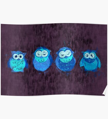 Owl Showers Poster