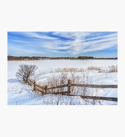 Bill Forward Pool of winter snow Photographic Print