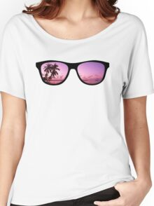 Hipster Beach Scene in the Sunset Women's Relaxed Fit T-Shirt
