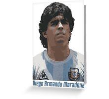 Diego Armando Maradona Greeting Card