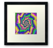 Fractured Spiral Framed Print