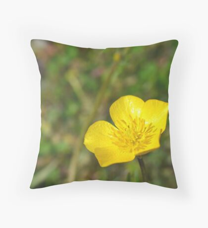 A little flower  Throw Pillow