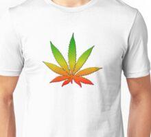 Marijuana Leaf Reggae Style Unisex T-Shirt