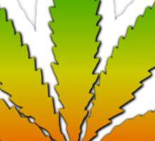 Marijuana Leaf Reggae Style Sticker