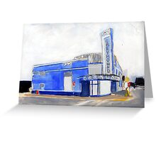 Evansville, Indiana Greyhound Bus Station Greeting Card