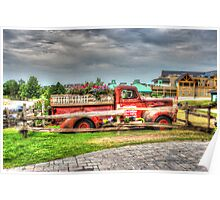 Antique pickup truck at Blue Mountain 2 - HDR Poster