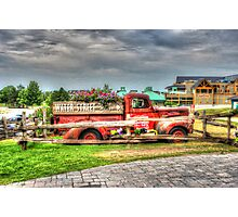 Antique pickup truck at Blue Mountain 2 - HDR Photographic Print