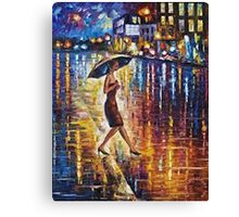 Woman With Umbrella Painting Canvas Print