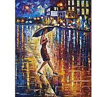 Woman With Umbrella Painting Photographic Print