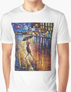 Woman With Umbrella Painting Graphic T-Shirt