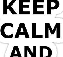 Keep Calm And Listen To Reggae Sticker