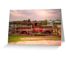 Antique pickup truck at Blue Mountain 2 Greeting Card