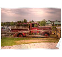 Antique pickup truck at Blue Mountain 2 Poster
