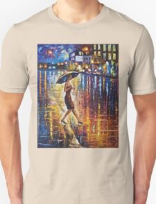Woman With Umbrella Painting Unisex T-Shirt