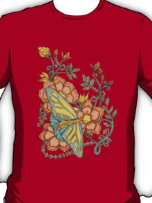 Spring Butterflies Roses and Vines T-Shirt