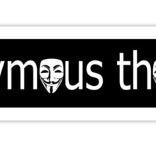 anonymous thought  Sticker