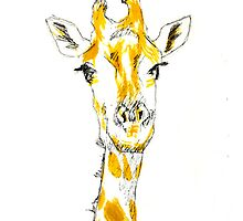 Giraffe iPhone Case by sydneyhafner
