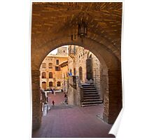 Archway in San Gimignano Poster