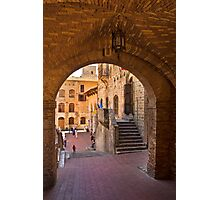 Archway in San Gimignano Photographic Print