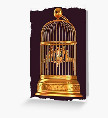 Bird Cage Greeting Card