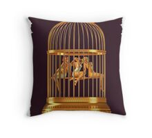 Bird Cage Throw Pillow