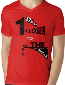 One step closer to the edge.  Mens V-Neck T-Shirt