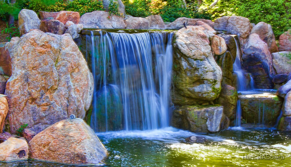 Zen garden waterfall by hanselasolera redbubble for Zen garden waterfall