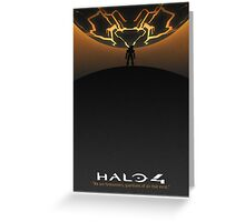 Halo 4 Poster (White Border) Greeting Card