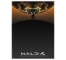 Halo 4 Poster (White Border) Photographic Print