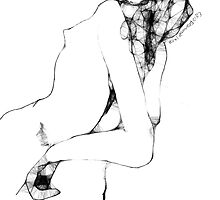 Female Nude -(210313)- Digital artwork/Program: The Scribbler by paulramnora