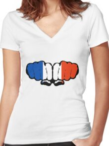 France! (Standard) Women's Fitted V-Neck T-Shirt