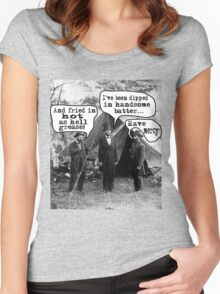 Lincoln: Dipped in Handsome Batter Women's Fitted Scoop T-Shirt