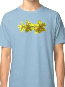 Backlit Yellow Orchids Classic T-Shirt