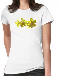 Backlit Yellow Orchids Womens Fitted T-Shirt